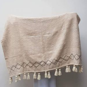 Tassel cotton blanket