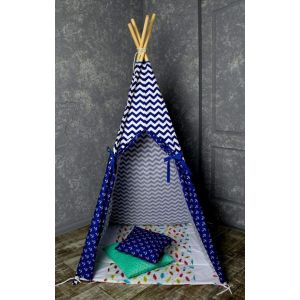 "Teepee for kids ""Marine pattern"""