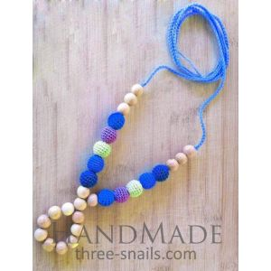 "Teething necklace for mom ""Blue shades"""
