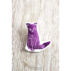 "Textile brooch ""Fox"""