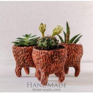 Texture plant pot