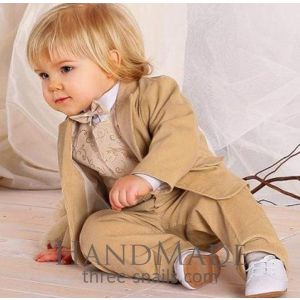 "Toddler boy clothes ""Beige elegance"""