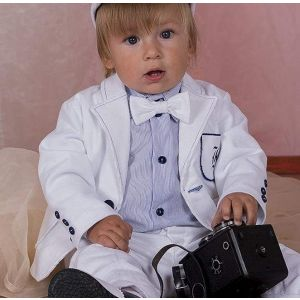 "Trendy baby boy clothes ""White style"""