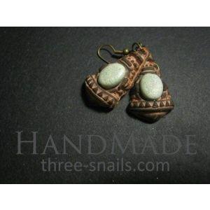"""Tribal earrings """"Maya Pyramids"""""""