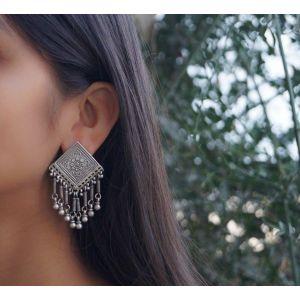 Tribal stud earrings for women
