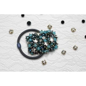 "Turquoise hair tie ""Turquoise universe"""