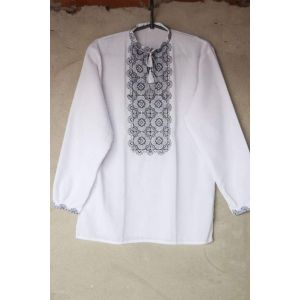 "Ukrainian embroidered shirts ""Gray shades"""