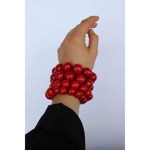 """Unique bracelets """"Red berries"""""""