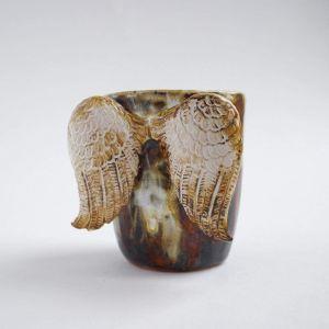 "Unique ceramic cup ""Fairy tale angel"""