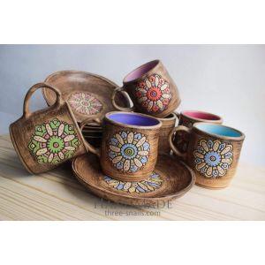 """Unique ceramic set """"Flowery"""""""