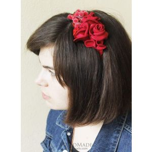 "Unique hair accessories. Headband  ""Red dream"""