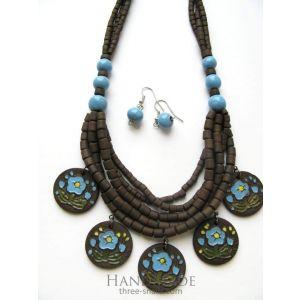 "Unique jewelry set ""Love me"""