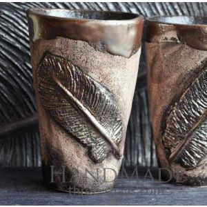 "Unique mugs ""Feather"""