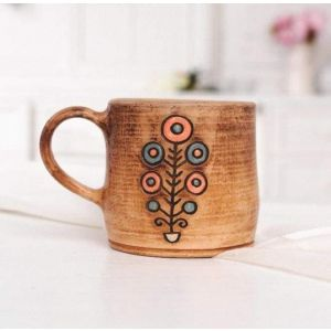 "Unique pottery tea cup ""The Tree of Life"""