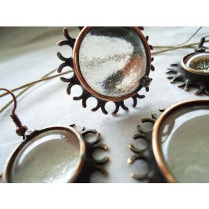 "Vintage copper jewelry set ""Clear water"""
