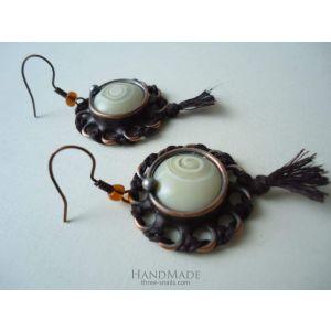 """Vintage earrings """"Fern flower"""""""