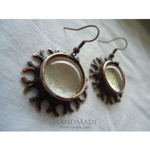 "Vintage earrings ""Rhododendron"""