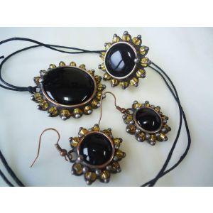 "Vintage jewelry set ""Black gold"""