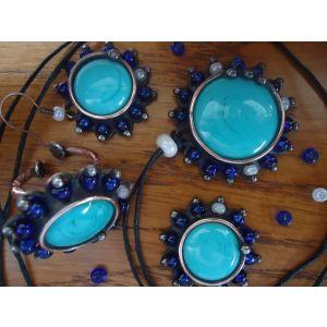 "Vintage jewelry set ""Blue diamonds"""