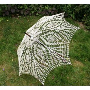 "Vintage umbrella ""Crochet kiss"""