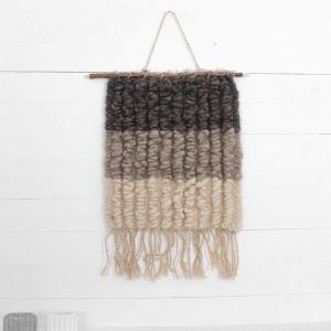 Wall decor gray wool hanging
