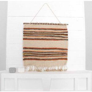 Wall tapestry orange stripes