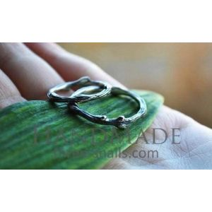 "Wedding rings for couples ""Silver tree branch"""