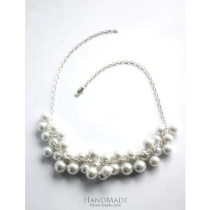 "White bead necklace ""Oceana"""