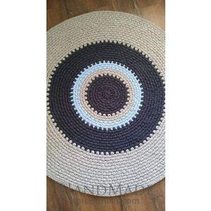White braided cotton rug