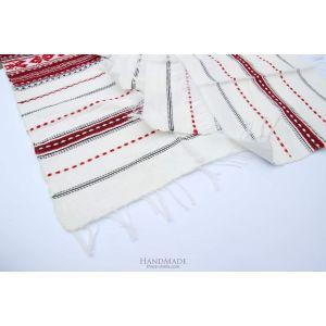 "White cloth napkins ""Little pattern"""