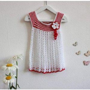 """White crochet dress """"Flower"""""""