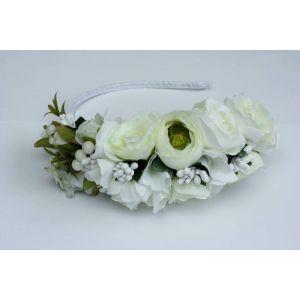 "White floral bridal head piece ""Wedding wreath"""