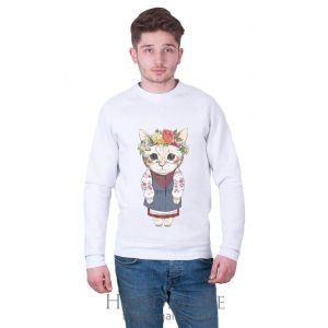 White Man Sweatshirt «Kitten»
