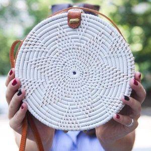 White round bag