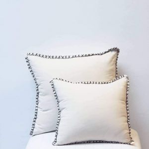 White stitch pillow case