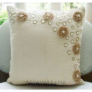 White wedding pillow case