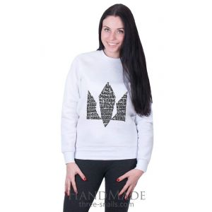 White Woman Sweatshirt «Hymn»