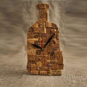 "Wine cork clock ""Wine battle"""