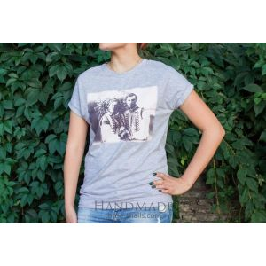 "Woman T-shirt ""Just married""."