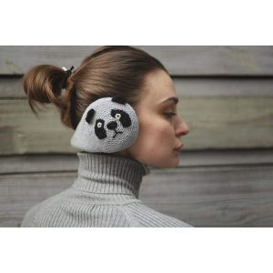 "Women's earmuffs ""Panda"""