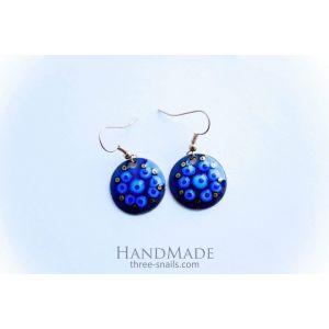"""Womens earrings """"Blue flowers"""""""