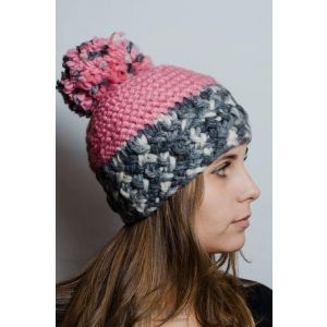 "Womens winter hat ""Pink glaze"""