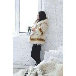 "Womens wool jacket ""Carpathian pattern"""