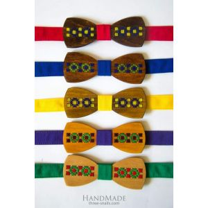 "Wood bow tie ""Ethnic"""