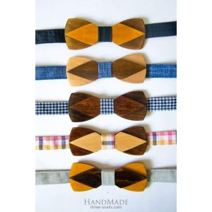 Wood bow tie men