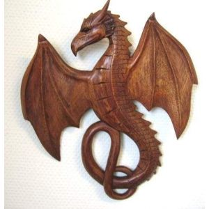 Wood carving dragon