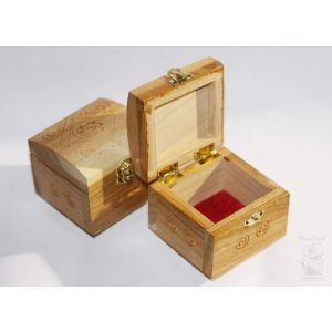 "Wood carving handmade box ""Gift"""