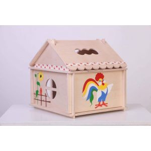 "Wood doll house ""Cock a doodle doo"""