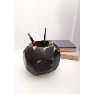 "Wood Fountain Pen Holder ""Black ball"""