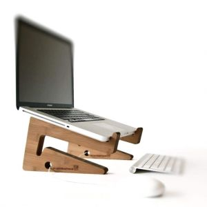 "Wood laptop stand ""iStand"""